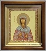 Татьяна Святая мученица, икона в киоте 16х19 см