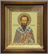 Василий Великий, икона в киоте 16х19 см