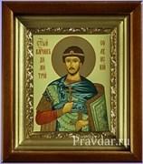 Дмитрий Солунский, икона в киоте 16х19 см
