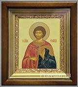 Евгений Святой мученик, икона в киоте 16х19 см