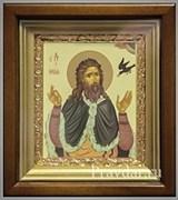Илия пророк, икона в киоте 16х19 см
