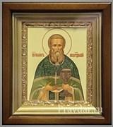 Иоанн Кронштадтский, икона в киоте 16х19 см