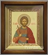 Никита Святой великомученик, икона в киоте 16х19 см