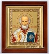 Николай Чудотворец, икона в киоте 16х19 см