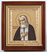 Серафим Саровский, икона в киоте 16х19 см