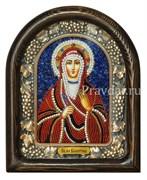 Валентина Святая мученица, дивеевская икона из бисера