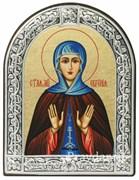 Евгения Святая мученица, икона с серебряной рамкой