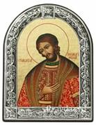 Александр Невский Святой князь, икона с серебряной рамкой