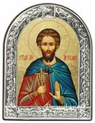 Артемий Святой мученик, икона с серебряной рамкой