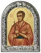 Иоанн Русский, праведный, икона с серебряной рамкой