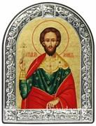 Леонид Святой мученик, икона с серебряной рамкой