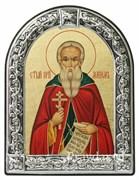 Максим Святой преподобный, икона с серебряной рамкой