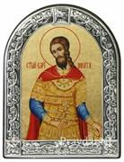 Никита Святой великомученик, икона с серебряной рамкой