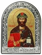 Роман Святой князь, икона с серебряной рамкой