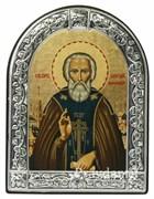 Сергий Радонежский преподобный, икона с серебряной рамкой