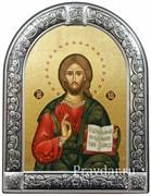Спас Вседержитель, икона с серебряной рамкой
