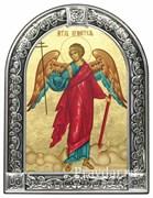 Ангел Хранитель, икона с серебряной рамкой