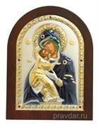 Владимирская Божья Матерь, греческая икона с серебряным окладом