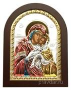 Сладкое Лобзание образ Божией Матери, икона с серебряным окладом