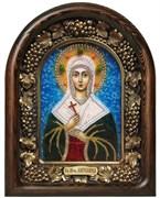 Ангелина Святая мученица, дивеевская икона из бисера