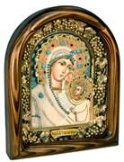 Утоли моя печали, икона Божьей матери из бисера ручной работы