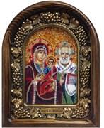 Ржевская Божья Матерь, дивеевская икона из бисера