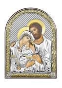 Святое Семейство, серебряная икона с позолотой