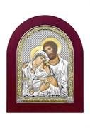 Святое Семейство, серебряная икона деревянный оклад