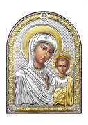 Казанская Божия Матерь, серебряная икона с позолотой