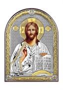 Господь Вседержитель, серебряная икона с позолотой