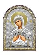 Семистрельная Божия Матерь, серебряная икона с позолотой