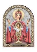 Неупиваемая чаша, серебряная икона с позолотой и цветной эмалью