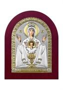Неупиваемая чаша, серебряная икона деревянный оклад