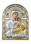 Страстная Божия Матерь, серебряная икона с позолотой