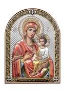Скоропослушница Божия Матерь, серебряная икона с позолотой и цветной эмалью