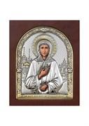 Ксения Петербургская, серебряная икона деревянный оклад с магнитом