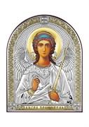 Ангел Хранитель, серебряная икона с позолотой