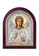 Ангел Хранитель, серебряная икона деревянный оклад