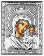 Казанская Божия Матерь, серебряная икона на дереве (Beltrami)