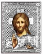 Господь Вседержитель, серебряная икона на дереве (Beltrami)