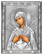 Семистрельная Божия Матерь, серебряная икона на дереве (Beltrami)