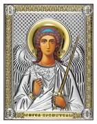 Ангел Хранитель, серебряная икона с позолотой на дереве (Beltrami)