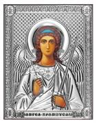 Ангел Хранитель, серебряная икона на дереве (Beltrami)