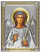 Ангел Хранитель, серебряная икона с позолотой, рамка-магнит (Beltrami)