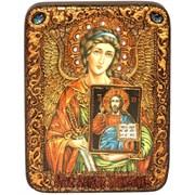 Ангел Хранитель со Спасителем икона на мореном дубе 20 см и 29 см