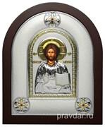 Спас Премудрый, греческая икона шелкография, серебряный оклад
