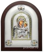 Вифлеемская Божья Матерь, греческая икона шелкография, серебряный оклад
