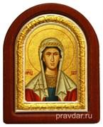 Татиана Святая мученица, икона шелкография, деревянный оклад, серебряная рамка
