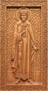 Владимир Святой князь, резная икона на дубовой цельноламельной доске (ростовая)