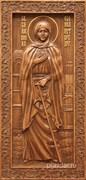 Ксения Петербургская, резная икона на дубовой цельноламельной доске (ростовая)